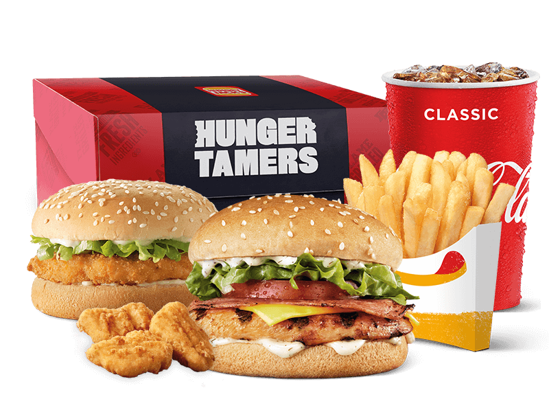 Burger bundle meals
